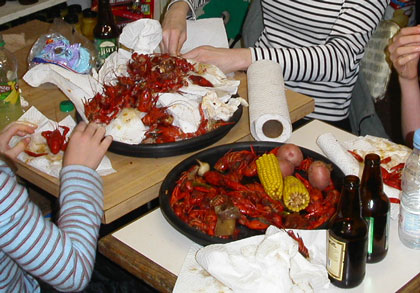 Crayfish at the Royal Grocery copyright 2004 Owen Linderholm