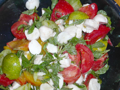 Tomato, Basil and Mozzarella Salad copyright 2004 Owen Linderholm