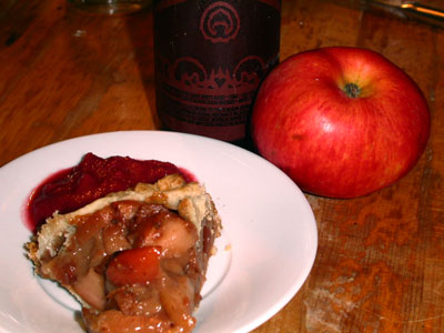 Photo of Pink Lady Apple Galette with Two Raspbery Sauce copyright 2004 Owen Linderholm